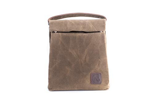 NIXOL Insulated Waxed Canvas Lunch Bag – Reusable and Eco-Friendly...