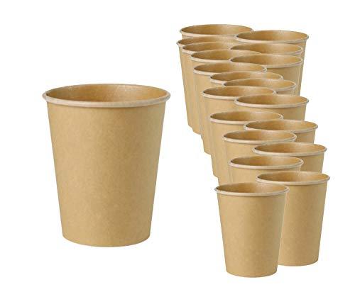 Vasos desechables ecológicos, vasos desechables con revestimiento PLA para llevar sin blanquear,...