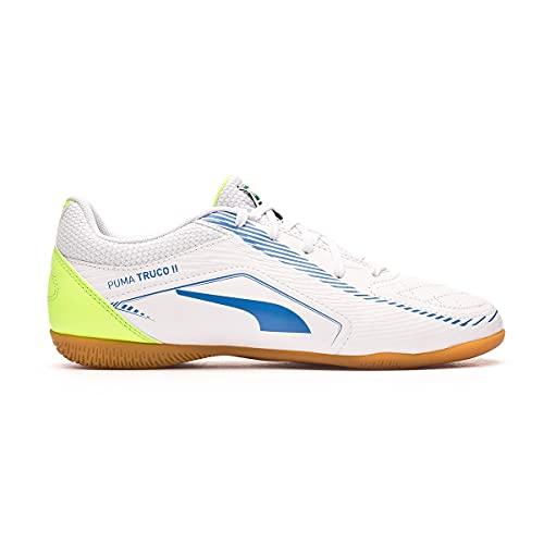 Puma Truco II Jr, Zapatillas de fútbol Sala, White Bluemazing, 37 EU
