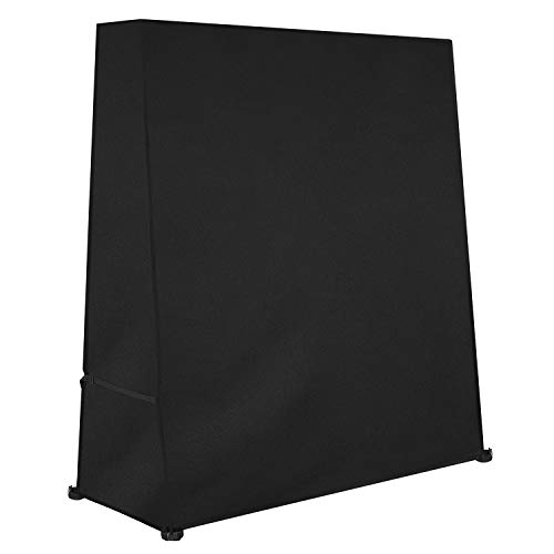Dokon Table Tennis Table Cover, Waterproof, Windproof, Anti-UV, Heavy Duty Rip Proof 600D Oxford Fabric Ping Pong Table Cover, Indoor/Outdoor (165×70×185cm) - Black