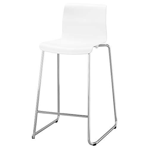 GLENN Barhocker 50x48x89 cm weiß/verchromt