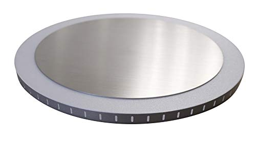 Luce Ambiente Design LED-Deckenleuchte Moon S, Kunststoff, Silber weiß