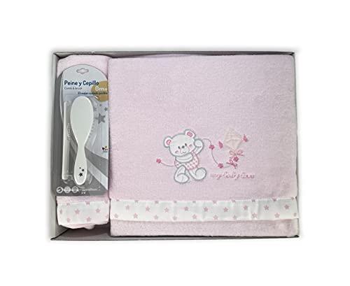 Acomoda Textil - Juego 3 Piezas Sábanas para Cuna, Sábanas de Coralina para Bebé 100% Algodón, Cálida y Suave para Invierno. (Rosa)
