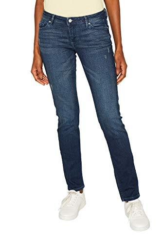 edc by ESPRIT Damen 999Cc1B807 Slim Jeans, Blau (Blue Dark Wash 901), W34/L30 (Herstellergröße: 34/30)