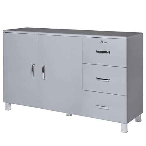 Miami 155738HG Sideboard mit 2 Türen und 3 Schubladen, Holz, hellgrau, 43 x 146.4 x 88.8 cm