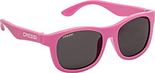 Cressi Teddy Sunglasses, Occhiali da Sole Unisex Bambino, Rosa/Lenti Fume, 3-5 Anni