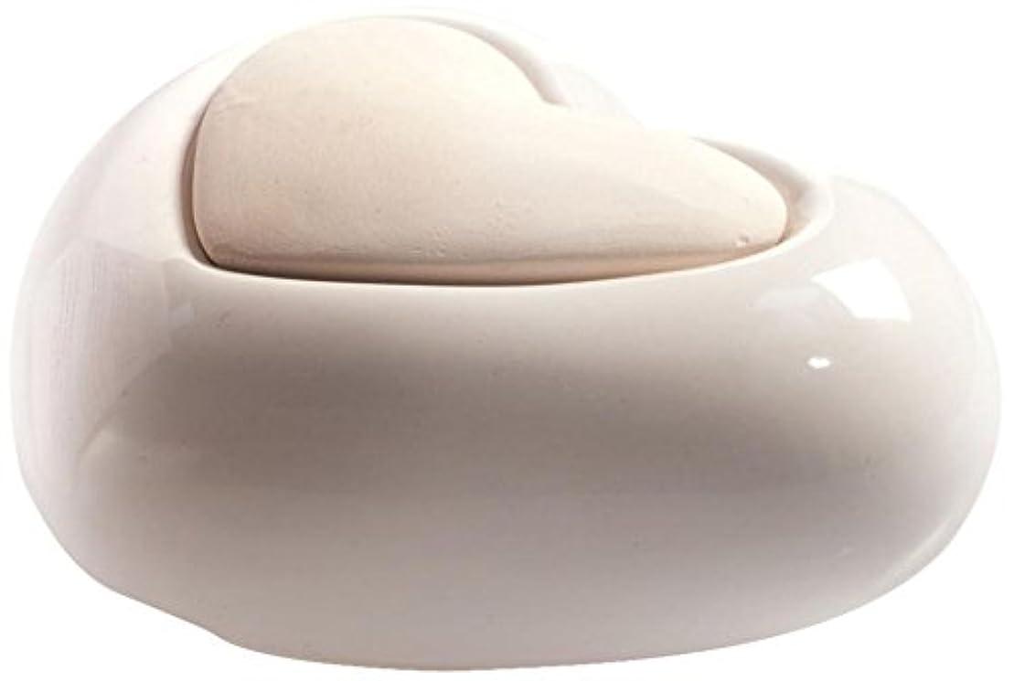宿題居心地の良い盆Millefiori HEART ルームフレグランス用 ハート型セラミックディフューザー ホワイト LDIF-CM-001