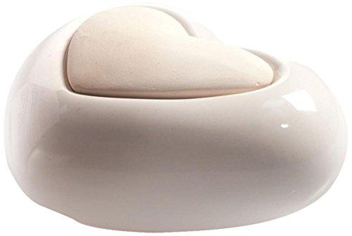 Millefiori Milano Lovely Cuore diffusore, Ceramica, White, 11.8 x 11.8 x 17.7 cm