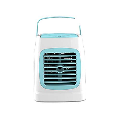 Mini Draagbare Desk koelventilator USB Drive voor kantoor aan huis slaapkamer luchtreiniger luchtbevochtiger, Portable Air Conditioner Fan,Blue