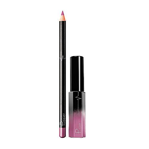 Vovotrade Crayon à Lèvres Lips Gloss Set Brillant à Lèvres Sexy hydratant Maquillage Imperméable à l'eau Mode 2019 Nouvelle 2PCS Cosmétiques antiadhésif Imperméable à l'eau 36 couleurs en option