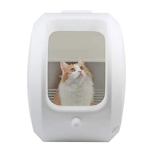 CHENNA Halbautomatische Wurfkiste Halbgeschlossenes Wurfkasten für Katzen-Toilette,...