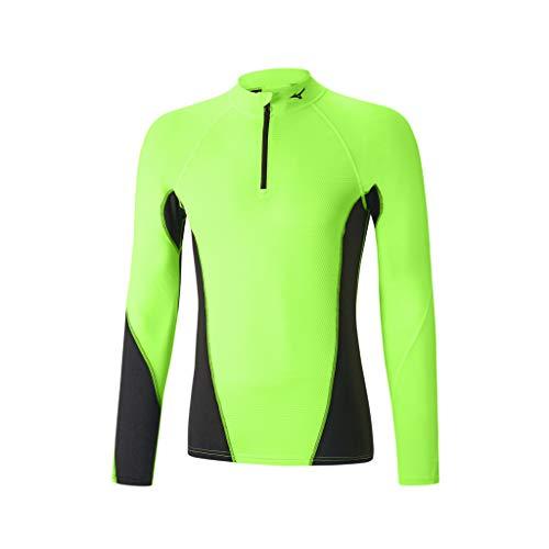 Mizuno Haut Thermique Homme Virtual Body G1 1/2 Vert Taille XL