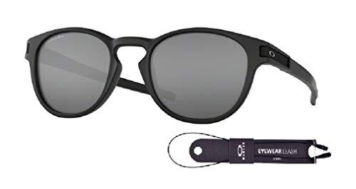 Oakley Latch OO9265 926527 53M Matte Black/Prizm Black Sunglasses For Men+BUNDLE with Oakley Accessory Leash Kit