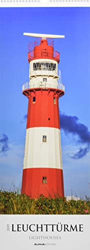 Leuchttürme 2019 - Lighthouses - Streifenkalender XXL (25 x 70) - Landschaftskalender
