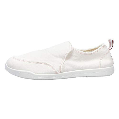 Vionic Beach Malibu Casual Women's Slip On Sneakers-Sustainable Shoes That Include Three-Zone Comfort with Orthotic Insole Arch Support, Machine Wash Safe- Sizes 5-11 Cream Canvas 9 Medium US