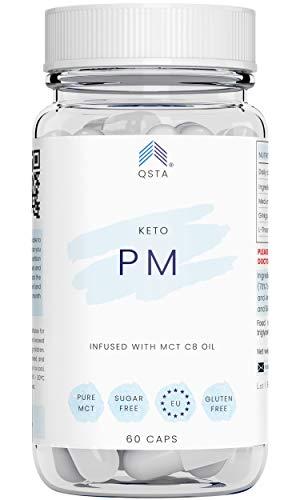 Keto Plus Actives PM+ (60 CAPS + 45 TIRAS) - Kit Keto Quemagrasas potente y rapido, Quema grasas mientras duermes + Mejora tu sueño REM, CAPSULAS + 45 TIRAS + RECETAS + NUTRICIONISTAS