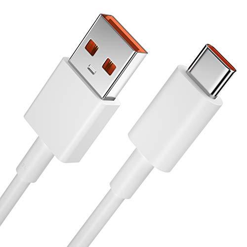 iMangoo USB C Ladekabel, USB C Kabel 45W 5A Charge Turbo Kabel für Xiaomi 10 Pro,3.3FT Datenkabel Fast Charge Sync Schnellladekabel für Mi10T Pro/Poco X3 NFC/Redmi Note 9 Pro/9s/Note 8 Pro/Realme 7
