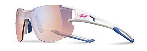 Julbo Aerolite Asian Fit Ultra-Light Trail Running Sunglasses - Reactive Performance 1-3(Red) - White/Blue-Grey