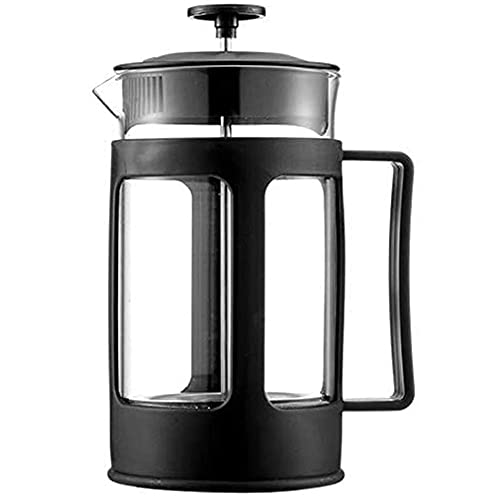ZHBH Mocha Pot French Press Coffee Maker Cafetiere, Borosilicate Glass Coffee Press Pot, Heat Resistant Tea Cafetiere Kettle Filter Coffee Maker Pot for Home Office (600ml)
