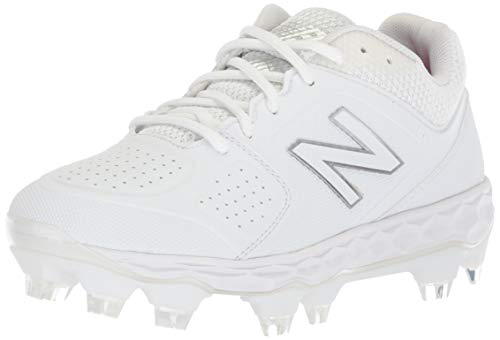 New Balance Women's Fresh Foam Velo V1 TPU Molded Softball Shoe, White/White, 9 M US