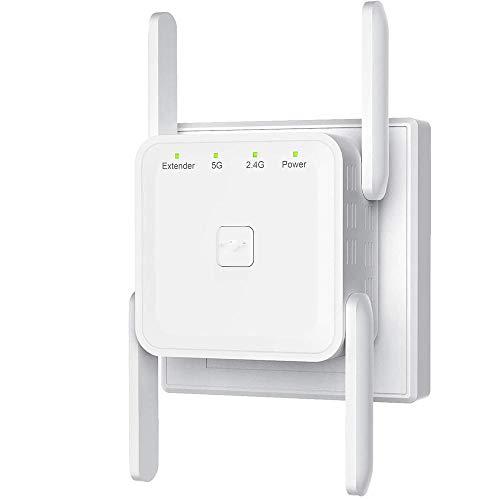 Amplificador de señal de Antena Punto de Acceso 2,4 5G Repetidor Extensor inalámbrico de Doble Banda 1200M Amplificador de Refuerzo WiFi