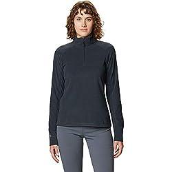 Mountain Hardwear Women's Microchill 2.0 Zip T | Lightweight, Moisture-Wicking Fleece Layer for Outdoor Wear