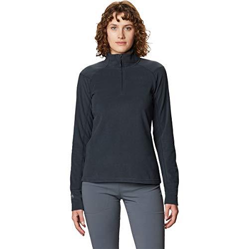 Mountain Hardwear Women's Standard Microchill 2.0 Zip T, Dark Storm, Large