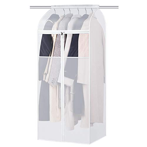 Univivi Large Garment Bag Length 152cm,Clothes Protector With a Full-Length Smooth And Sstrong Zipper,Garment Bags For Organize The Closet