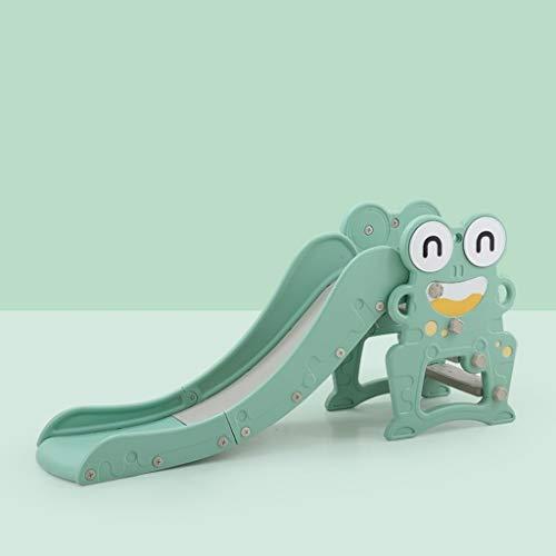 GLY Tobogan Infantil Tobogan Niños Jardin Columpios Infantiles Frog Tobogan para Piscinas Tobogan Infantil con Aro De Baloncesto, Escaleras Antideslizantes For Niños Juguetes For Niños De 2 Años