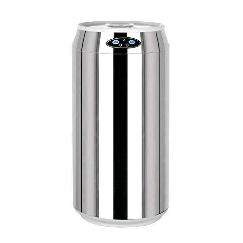 LTCTL Papeleras La inducción Bote de Basura Coca-Cola Puede Acero Inoxidable Smart Home Forma Creativa Cocina Sala de Estar Escritorio Mini Cubo for el hogar, Dormitorio Cubo de la Basura