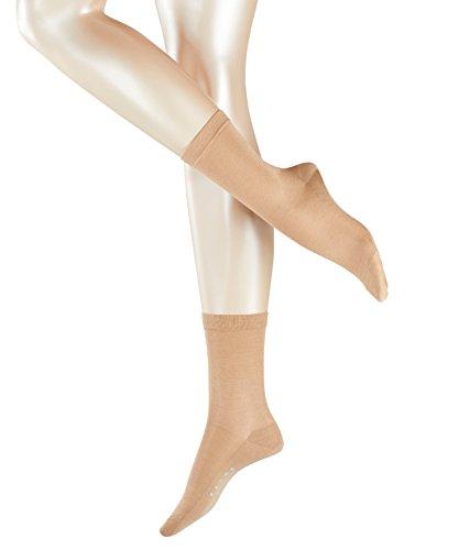 FALKE Damen Socken Sensual Silk, Baumwolle/Seidemischung, 1 Paar, Beige (Country 4380), Größe: 35-36