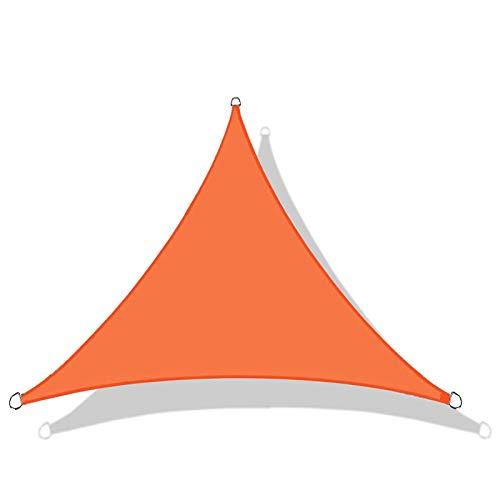 QI-CHE-YI Toldo zarpar, triángulo a Prueba de Agua Conjuntos de jardín al Aire Libre, terraza Fiesta de Playa toldo, 95% de protección UV, 3 * 3 * 3,Naranja