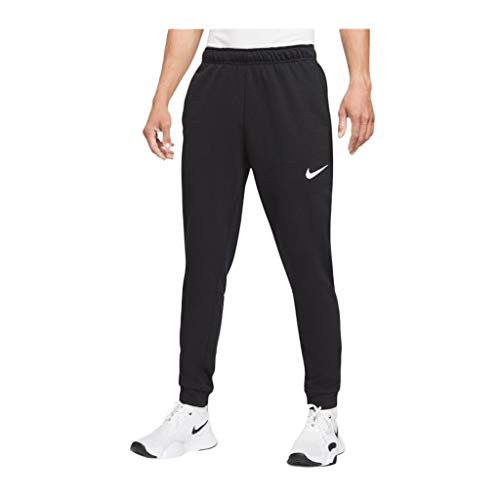 NIKE M NK DF PNT Taper FL Pantalones de compresión, Black/(White), Large para Hombre