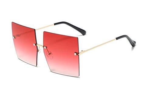 Gafas de sol para mujer con marco grande para mujer, gafas de sol de moda, sin marco, con personalidad de uñas, gafas de sol de viaje