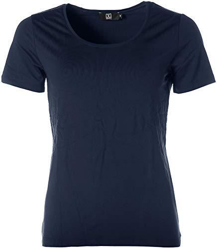 JETTE Damen Basic Kurzarm Shirt T-Shirt Rundhals Navy 38
