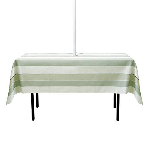 GYHH Mantel De Sombrilla para Patio Al Aire Libre De 60 Pulgadas,con Orificio para Sombrilla Y Cremallera,Resistente Al Agua,Viene con 6 Clips Escritorio (Stripe,Rectangle 150 * 213cm)