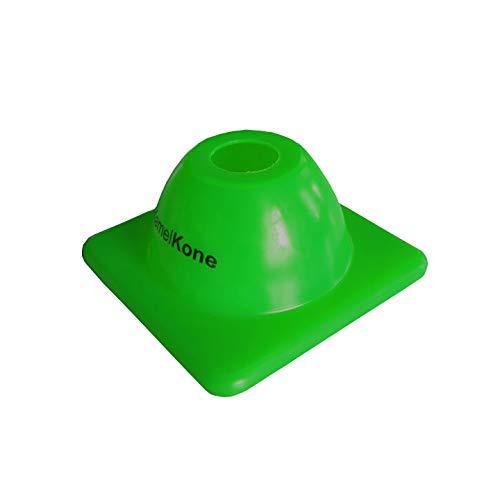 KamelKone Agility Training & Motorradkegel für Sport & Kinder | Set von 12 Premium grünen Kunststoffkegeln für Fahrräder, Verkehr und Fußball (grün)