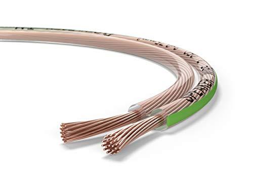 Oehlbach Speaker Wire SP-7 - Stereo HI-FI Lautsprecherkabel - Boxenkabel mit OFC (sauerstofffreies Kupfer) 2 x 0,75 mm² - Mini Spule Lautsprecher Kabel - Glasklar 20 Meter