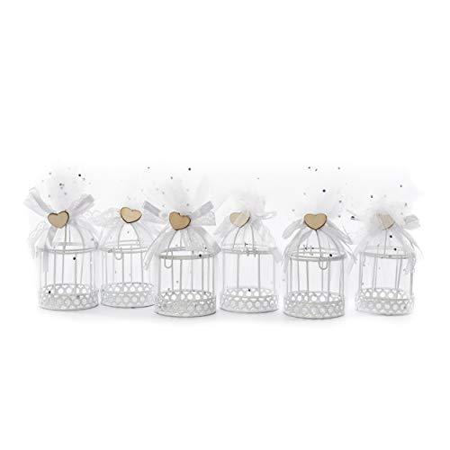Gastgeschenk give Away | knuellermarkt24.de | Käfige Tüll 12er Set Vogelkäfig Hochzeit Hochzeitsdeko