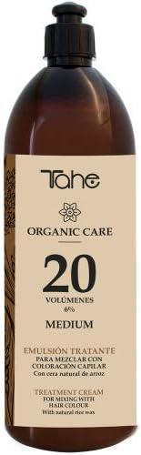 Tahe Emulsión Tratante Organic Care   Emulsión Oxigenada para la Mezcla de Coloración Capilar, Súper Aclarante. Ingredientes ECO-certificados y Animal ...