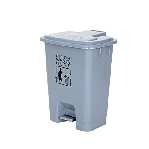 Trash can-Q Bote de Basura Multifuncional Compartimiento de Basura, saneamiento Pedal plástico Cubo de Limpieza del Hospital Clínico Aula Papelera Conveniente for Muchas Ocasiones Basura y Reciclaje