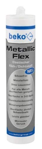 beko Metallic-Flex 305 g metallic silber Elastischer 1-Komponenten Kleb-/Dichtstoff 247 305 1