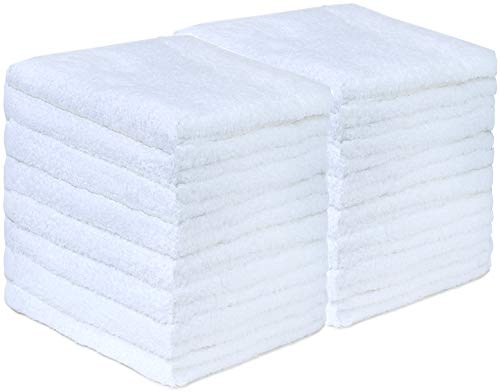 GREEN MARK Textilien 20er Pack Frottier Gästetücher mit Aufhänger 30x50cm GÄSTETUCH GÄSTE-Handtuch Farbe: Weiß