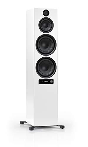 Nubert nuPro X-8000 RC Standlautsprecher | Bluetooth Lautsprecher aptX HD | Lautsprecher Verbindung kabellos High Res 192 kHz/24 bit | aktive Standbox 3.5 Wege | High End Lautsprecher Weiß | 1 Stück