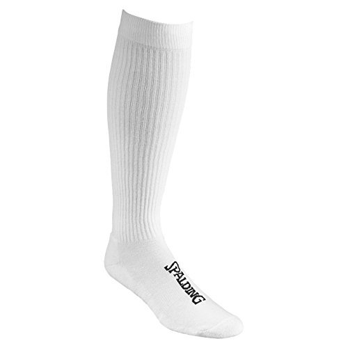 Spalding High Cut Calcetines, 2 Pares, Sin género, Blanco, 41-45