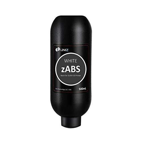 Uniz ZABS 500 ml Amber (amarillo transparente) – Resina para impresora 3D, blanco, 1