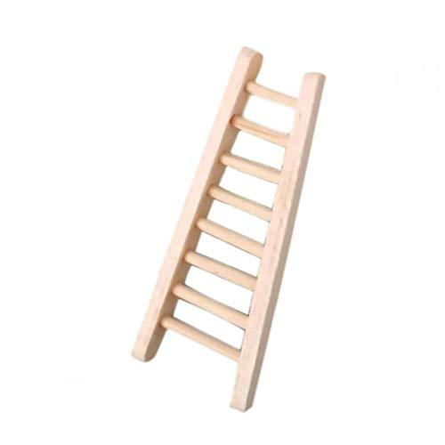 OMMO LEBEINDR Simulación de Escalera muñeca de Juguete Casa Conjunto Mini Escalera de Madera para la decoración Accesorios