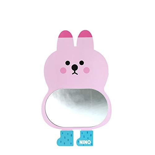 Antique Alive Bunny Safe EVA irrompible acrílico niños niño niña bebé habitación cuarto de baño jardín de infantes pared decoración del hogar lindo conejo espejo tablero (rosa)