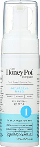 The Honey Pot Company Sensitive Wash | Herbal Infused Feminine Hygiene Natural Wash for Sensitive Skin Types | PH Balanced Plant Based Wash Free from Parabens and Sulfates | 5.51 Fl Oz