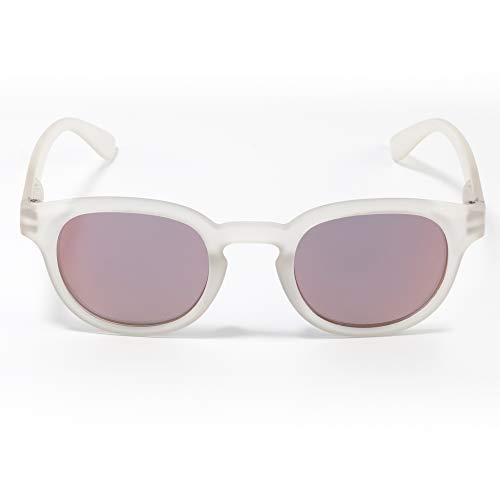 Contacta Hipsun Cristallo Lente Rosa Flash – Occhiale da Sole con Lenti Polarizzate Montatura Effetto Soft Touch – Lente Rosa Blu Grigio Flash - Sacchetto Porta Occhiali in Microfibra - 22 g